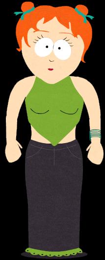 橙发绿衣少女