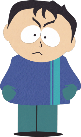 6th Grader with Black Hair and Blue Shirt