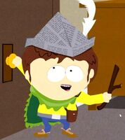 Jimmy holding doorknob