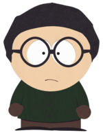 Boy with Dark Green Shirt and Glasses.png