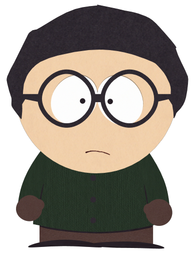 Boy with Dark Green Shirt and Glasses