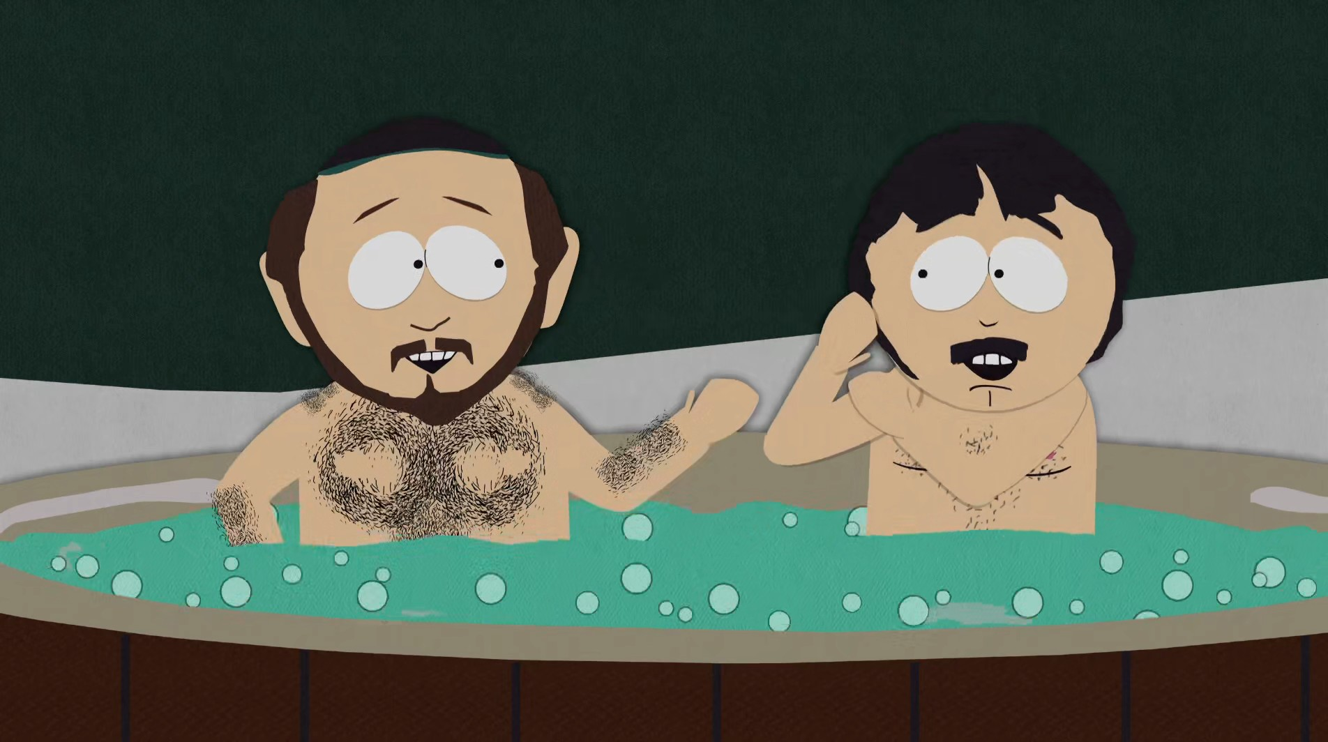Two Guys Naked in a Hot Tub