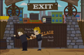Brown-haired Thief and Orlich closing gate