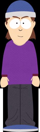 9th Grader with Purple Shirt