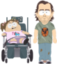 Father and Handicapped Daughter
