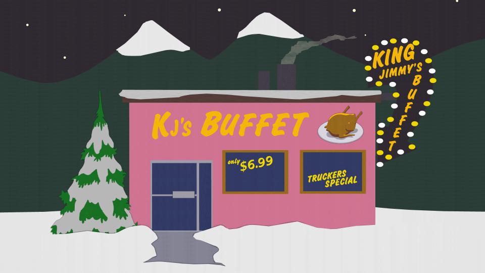 吉米王吃到撑自助餐厅