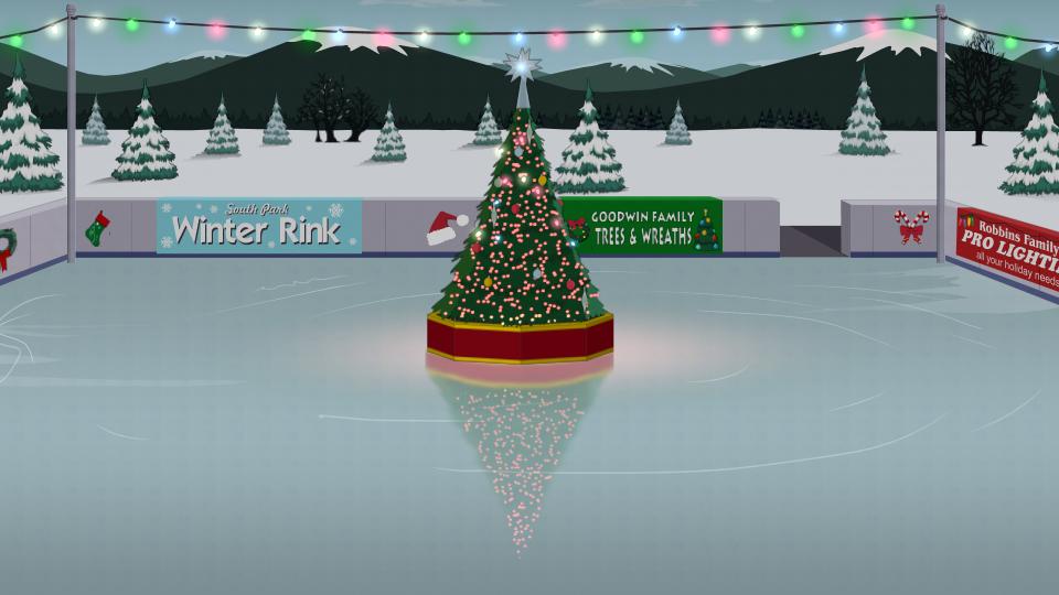 南方公园冬季溜冰场
