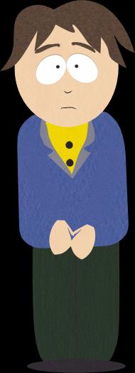 棕发蓝衣镇民