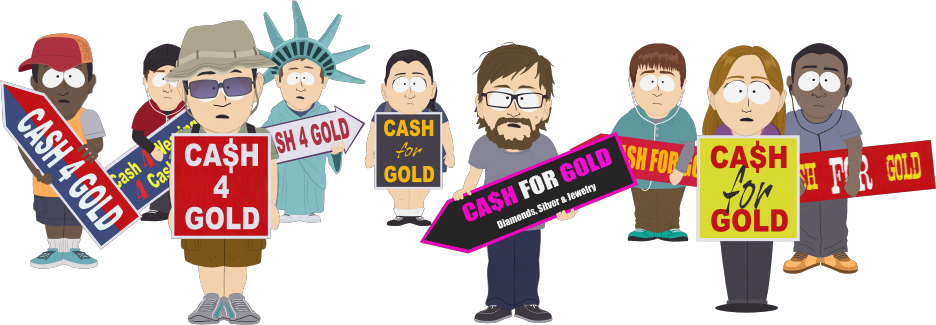 Cash For Gold Sign Holders