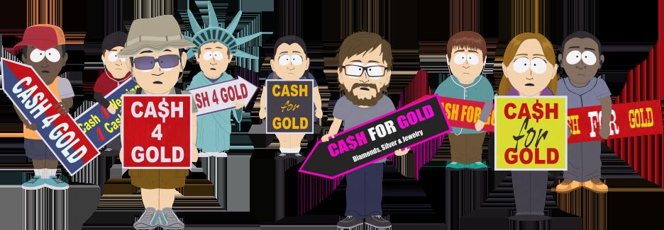 Cash For Gold Sign Holders