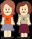 Katherine and Katie Queef