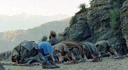 Mujahideen prayer in Shultan Valley Kunar, 1987