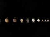 Monde in unserem Sonnensystem