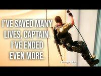 I've saved many lives, Captain. I've ended even more