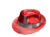 Red Sparkle Time Fedora Trail