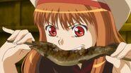 Holo eating