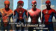 "Evolution of the ""Battle Damage"" Mod in Spider-Man Games (2001-2018)"
