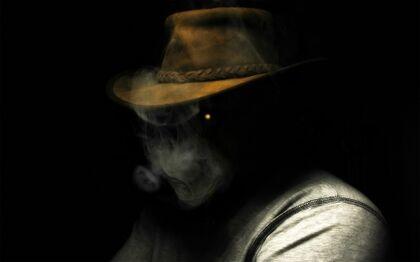 Smoking dark people hats black background 1920x1200 wallpaper www.artwallpaperhi.com 45.jpg