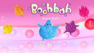 Boohbah Pearly Shells Menu