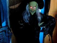5FT ANIMATED TALKING WITCH WITH CAULDRON Halloween Party Prop Decoration