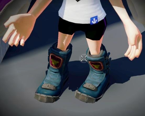 Blue Moto Boots