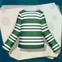Green Striped LS