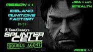 Splinter Cell Double Agent PS2 PCSX2 HD JBA – Миссия 1 Исландия – Фабрика боеприпасов (2 3)