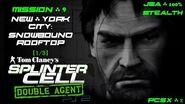 Splinter Cell Double Agent PS2 PCSX2 HD JBA – Миссия 9 Нью-Йорк – Заснеженная крыша (1 3)