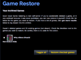 Game Restore