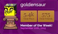 GoldensaurMOTW
