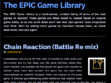 The Epic Game Library