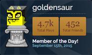 GoldensaurMOTD