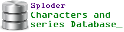 Sploder Characters and Series Database