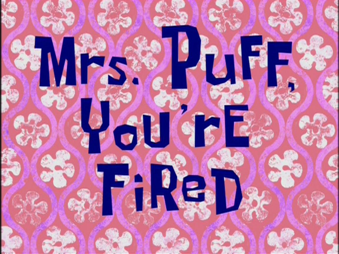 Pani Puff wylatuje z pracy