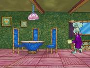 Squidward With His Mug At His House