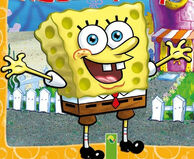 SpongeBob gladly oil-painted stock art