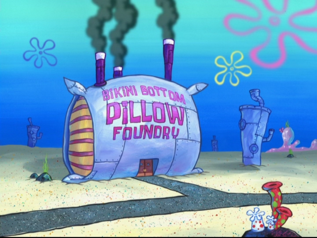Bikini Bottom Pillow Foundry