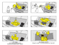 SpongeBob Movie 3 storyboard - Mr. Krabs
