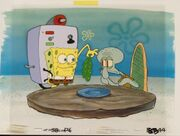 Reef Blower SpongeBob and Squidward