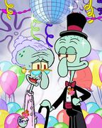 Nickelodeon prom post - Squidward and his mom