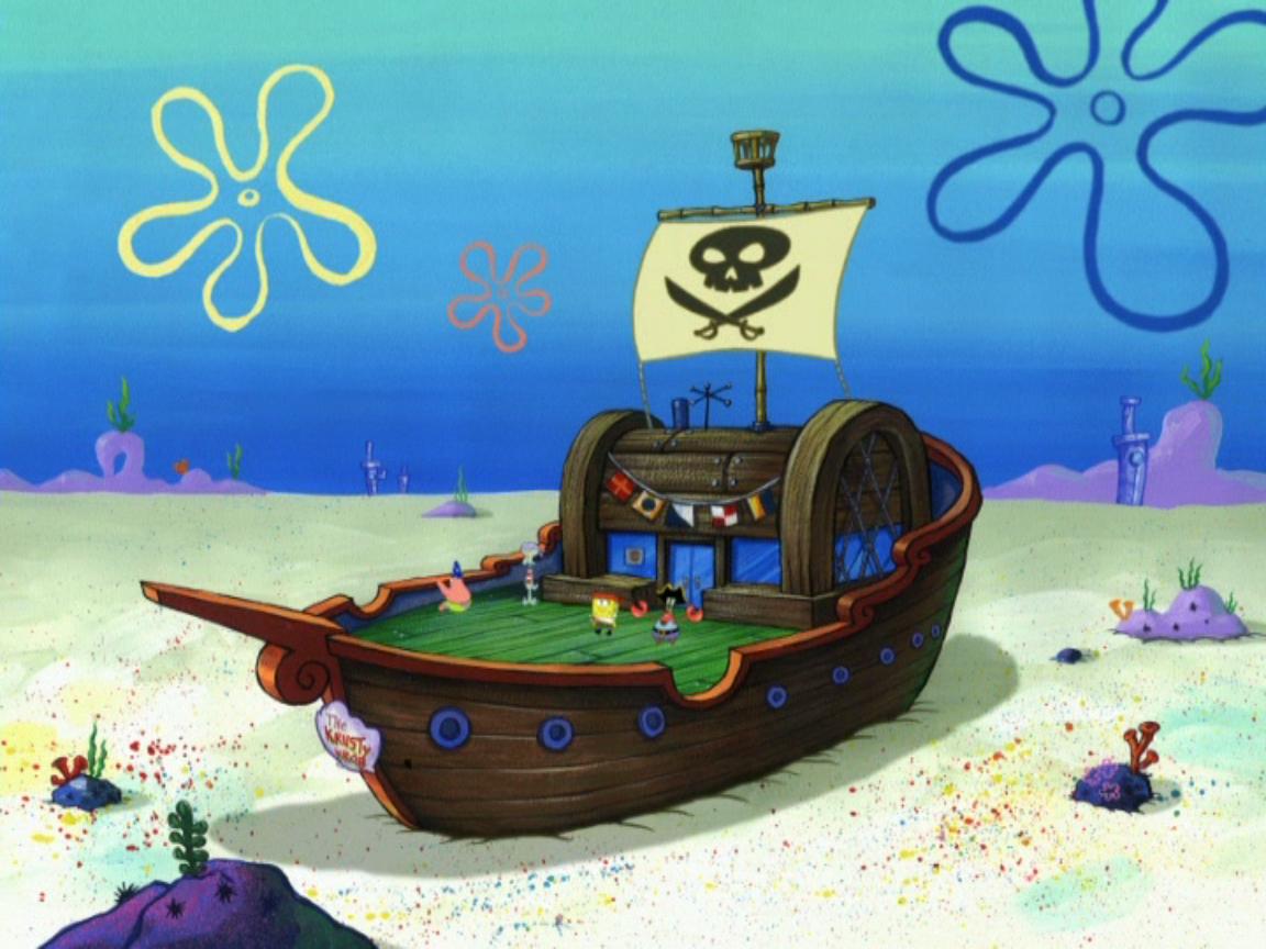 Mr. Krabs' pirate ship