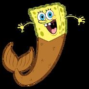 SpongeBob with mermaid tail stock art