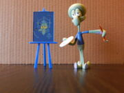Squidward painting figure