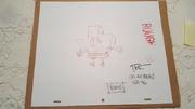 SPONGEBOB-ORGINAL-SKETCH-Signed-by-TODD-WHITE-Epiode