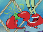Mr. Krabs with Heart Pupils