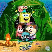 Cineplex Sponge on the run poster