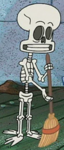 Skeleton Squidward