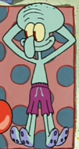 Squidward Wearing a Swim Suit