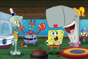 SpongeBob SquarePants - Pearl and SpongeBob joking around