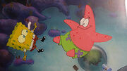 Spongebob-Squarepants-Original-Production-Cel-Cell-Animation-Art Sandy's rocket